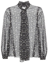 Alexander McQueen Floral-printed Silk Blouse