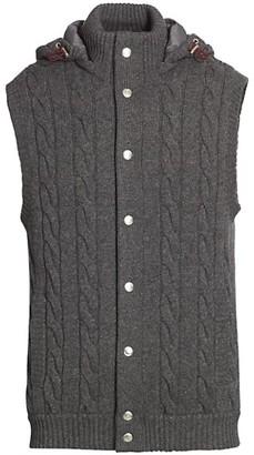 Brunello Cucinelli Cashmere Cable Knit Vest