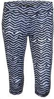 Soffe Black & White Zigzag Crop Pants