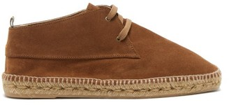 Castaner Bruno Suede & Jute Desert Boots - Mens - Brown