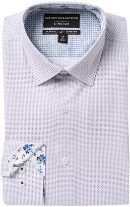 Report Collection Slim Fit Dot Print Dress Shirt
