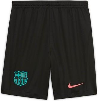 Nike Youth Barcelona 20/21 Third Shorts - Black