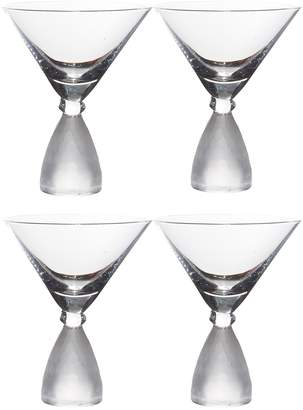Home Essentials And Beyond Pedestal Frosted Martini Glass - Set of 4