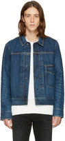 Rag & Bone Blue Denim Bartack Jacket