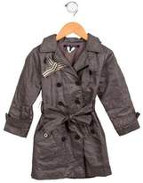 Lili Gaufrette Girls' Double-Breasted Trench Coat