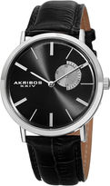 Akribos XXIV Mens Black Strap Watch-A-848ssb