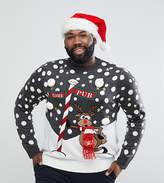 Brave Soul PLUS Holidays Naughty Raindeer Sweater