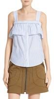 Veronica Beard Women's Lacey Stripe Cotton Tank