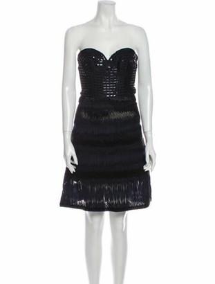 Oscar de la Renta 2015 Mini Dress Blue