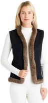 J.Mclaughlin Alina Reversible Fur Trim Vest
