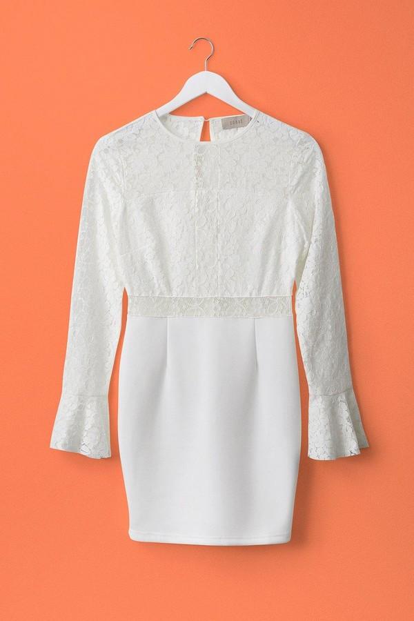 Coast Long Sleeve Lace Short Shift Dress