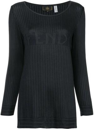 Fendi Pre-Owned Logo Knit Top