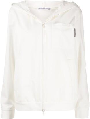 Brunello Cucinelli Chest Pocket Zipped Hoodie