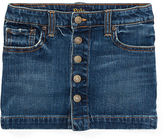 Ralph Lauren 2-6X Button-Front Denim Skirt