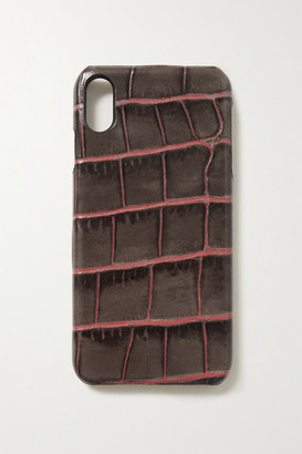 Factory The Case Croc-effect Leather Iphone Xs Max Case - Taupe