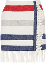 Paul & Joe Titane striped wool-blend mini skirt