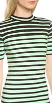 Alexander Wang Engineer Stripe Short Sleeve Dress