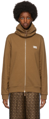 Burberry Brown French Terry Snood Hoodie
