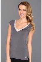 Calvin Klein Underwear Essentials w/ Satin Trim Cap Sleeve PJ Top Women's Pajama