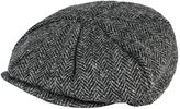 Gibson Grey Harris Tweed Baker Boy Hat