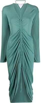 Bottega Veneta Ruched Knitted Dress
