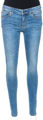 Burberry Indigo Medium Washed Denim Skinny Low Rise Jeans S