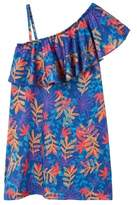 MANGO Flowers cold-shoulder dress