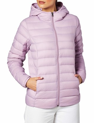 Amazon Essentials Women's Lightweight Water-Resistant Packable Hooded Down Jacket