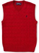 Ralph Lauren Big Boys 8-20 Cable-Knit Sweater Vest