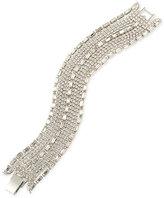 Carolee Silver-Tone Crystal Wide Flex Bracelet