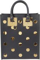 Sophie Hulme Midnight Mini Albion Gold Polka Dots Shoulder Bag