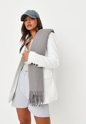 Missguided Grey Blanket Scarf