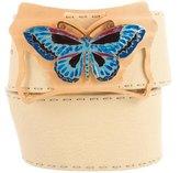 Fendi Butterfly Leather Belt