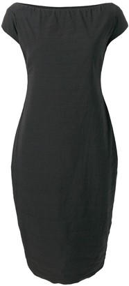 Romeo Gigli Pre Owned off-shoulder pencil dress