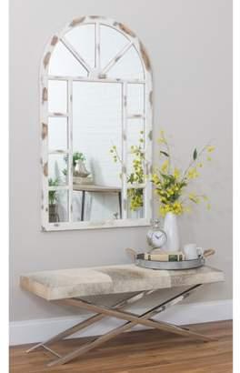 "Aspire Home Accents Lara Farmhouse Arch Wall Mirror White 52"" x 30"" by Aspire"
