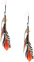 Forever 21 Feathered Tribal Earrings