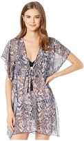 Becca by Rebecca Virtue Animal Kingdom Sheer Woven Tunic Cover-Up (Python) Women's Swimwear