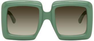Gucci Green Oversized Square Sunglasses