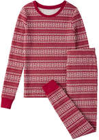 Joe Fresh Kid Girls' Print Waffle Sleep Set, Carmine Red (Size S)