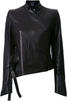 Ann Demeulemeester 'Luvas' jacket - women - Leather/Nylon/Wool - 36