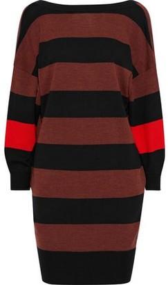 Victoria Victoria Beckham Striped Wool Mini Dress