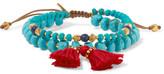 Chan Luu Tasseled Gold-tone Multi-stone Bracelet - Turquoise