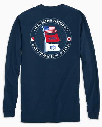 Southern Tide Ole Miss Rebels Flags Long Sleeve T-Shirt