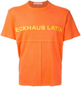 Eckhaus Latta - printed patchwork T-shirt - men - Cotton - M