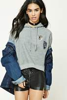 Forever 21 Tiger Patch Fleece Hoodie