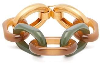 Marni Chunky Chain-link Bracelet - Womens - Gold Multi