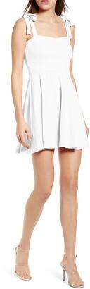 Susana Monaco Tie Strap Sleeveless Minidress