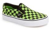 Vans Toddler Boy's 'Classic - Checker' Slip-On