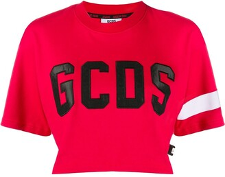 GCDS cropped logo T-shirt