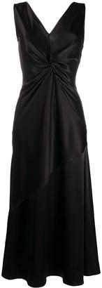 Pinko Twist-Front Midi Slip Dress
